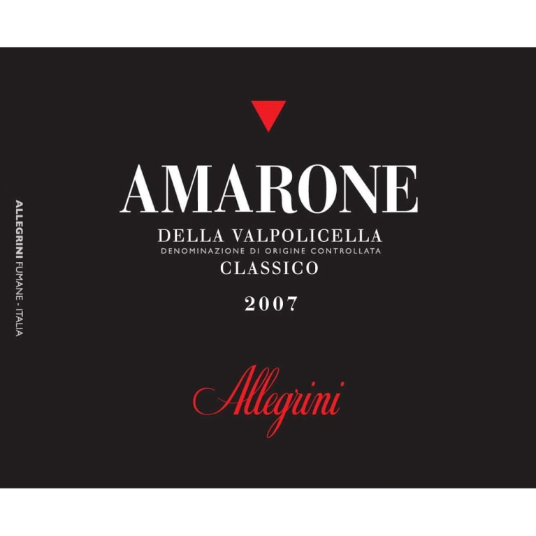 Allegrini Amarone 2007 Front Label