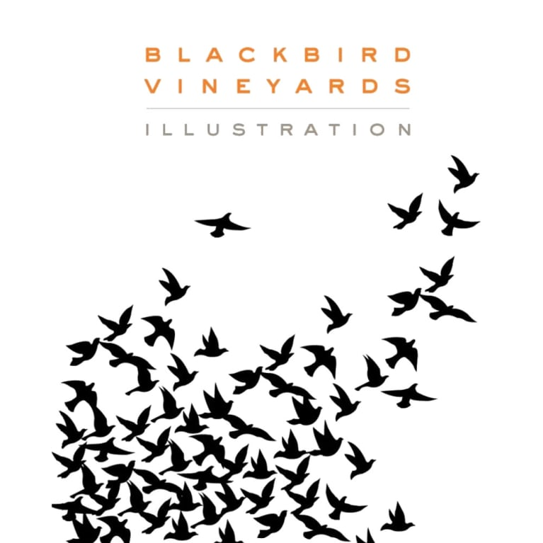 Blackbird Vineyards Illustration Proprietary Red 2008 Front Label