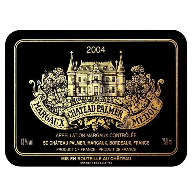 Chateau Palmer  2004 Front Label