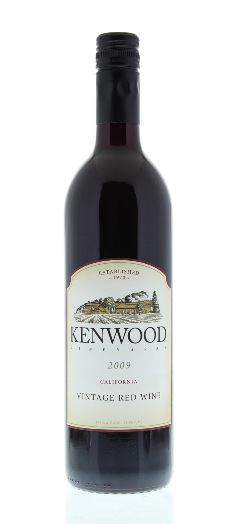 Kenwood Vintage Red Blend 2009 Front Bottle Shot