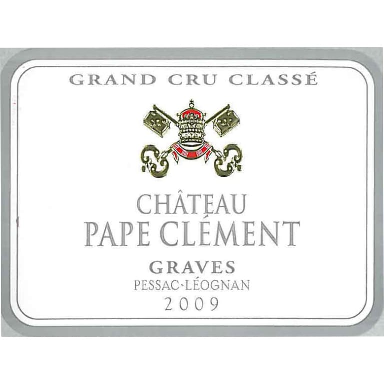 Chateau Pape Clement  2009 Front Label