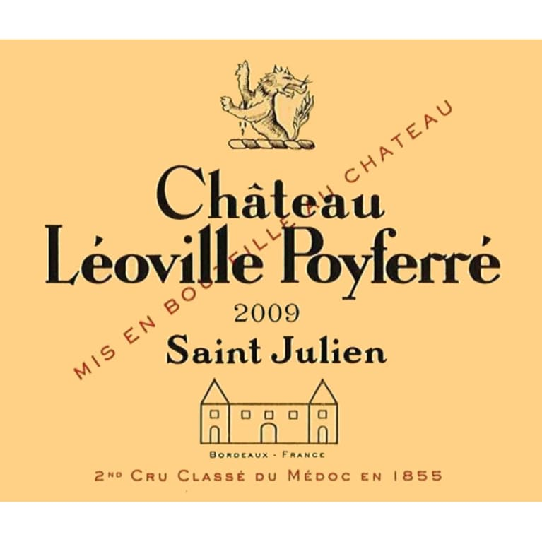 Chateau Leoville Poyferre  2009 Front Label