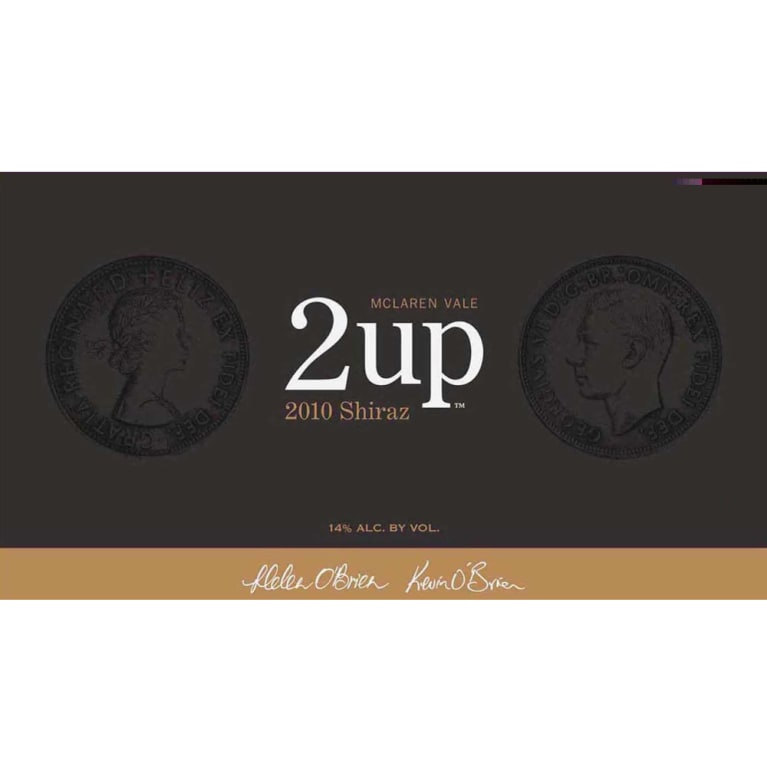 2 up Shiraz 2010 Front Label