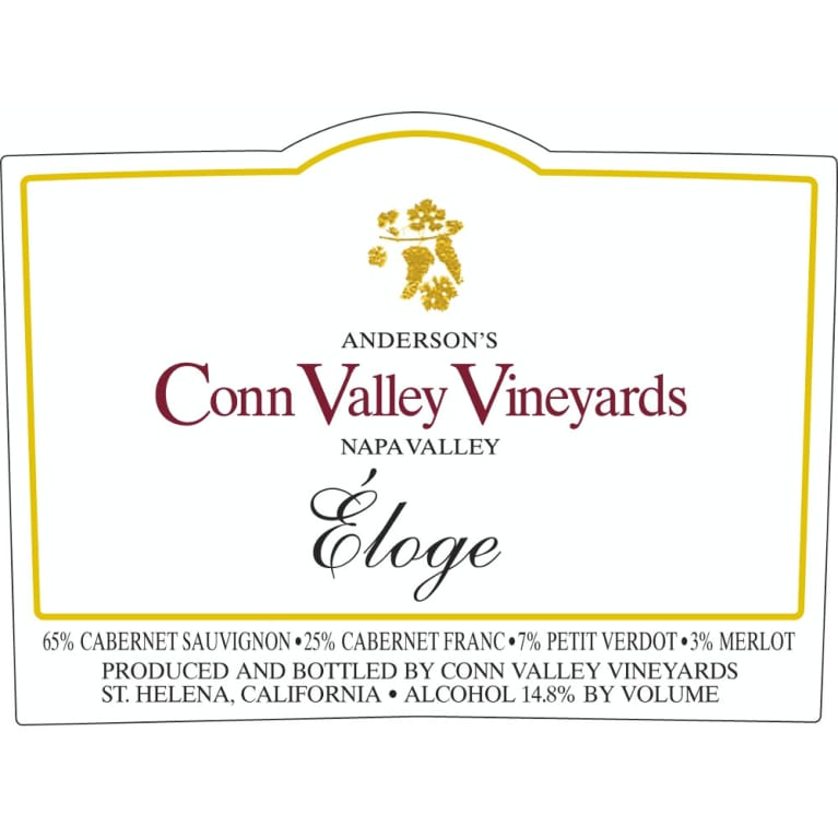 Anderson's Conn Valley Vineyards Eloge (1.5 Liter Magnum) 2008 Front Label