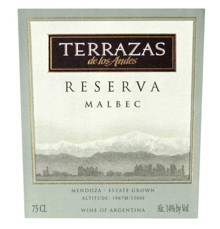 Terrazas De Los Andes Reserva Malbec 2009