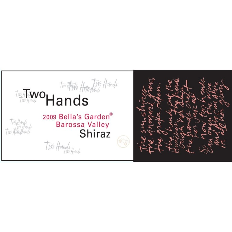 Two Hands Bella's Garden Shiraz 2010 Front Label