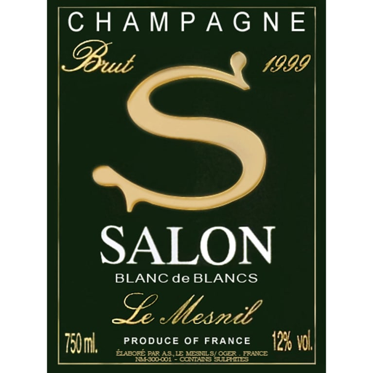 Salon Blanc de Blancs Le Mesnil (in Gift Box) 1999 Front Label