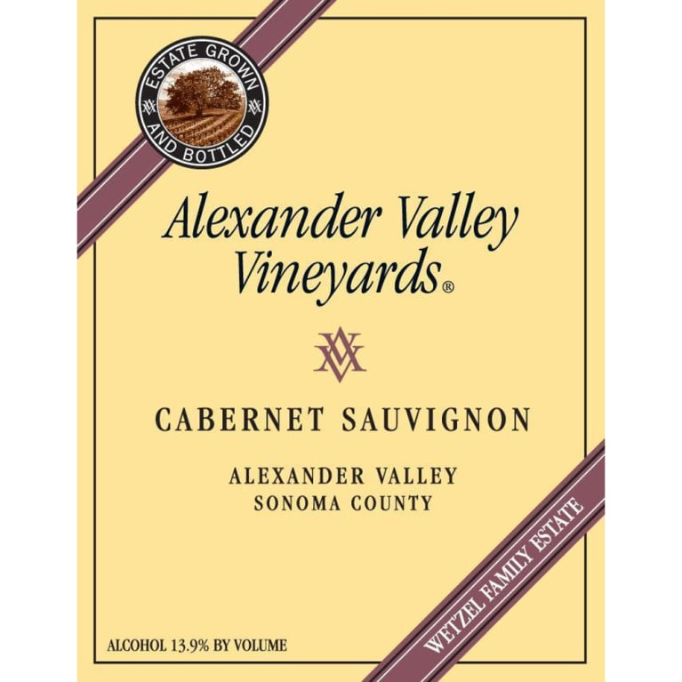 Alexander Valley Vineyards Cabernet Sauvignon (375ML half-bottle) 2009 Front Label