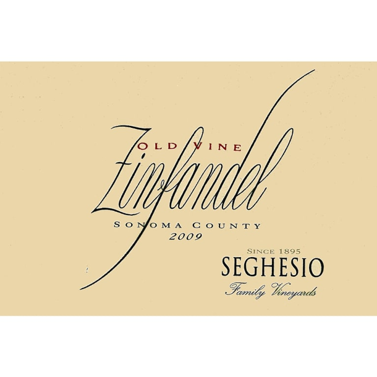 Seghesio Old Vine Zinfandel 2009 Front Label