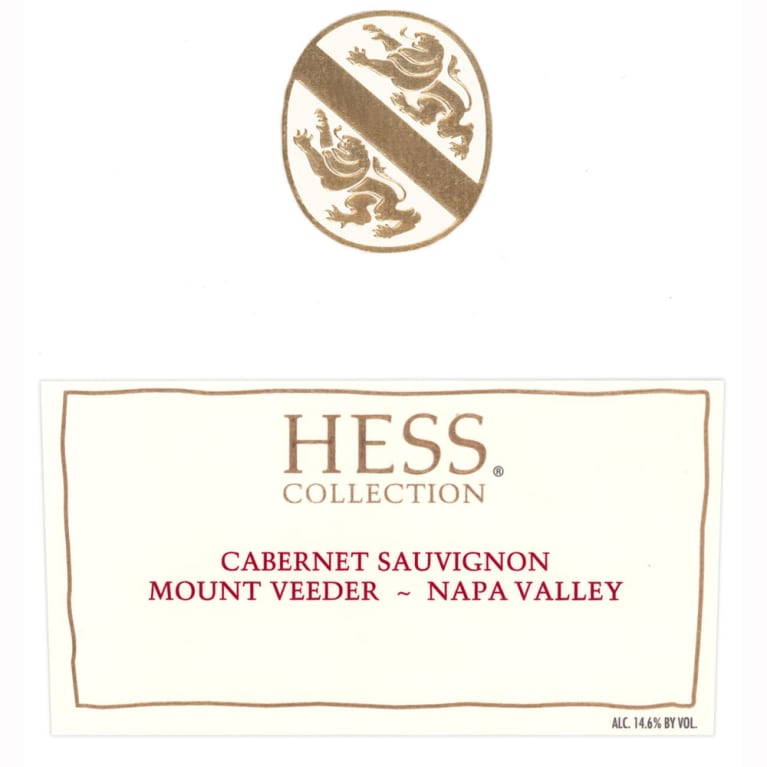 Hess Collection Mount Veeder Cabernet Sauvignon 2008 Front Label