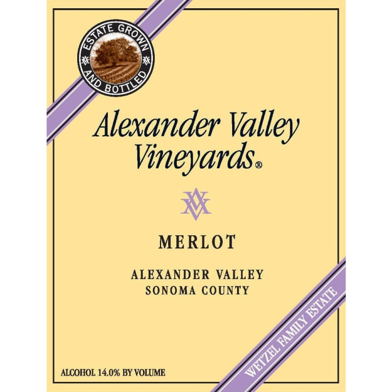 Alexander Valley Vineyards Merlot 2009 Front Label