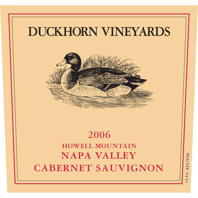 Duckhorn Howell Mountain Cabernet Sauvignon 2006 Front Label