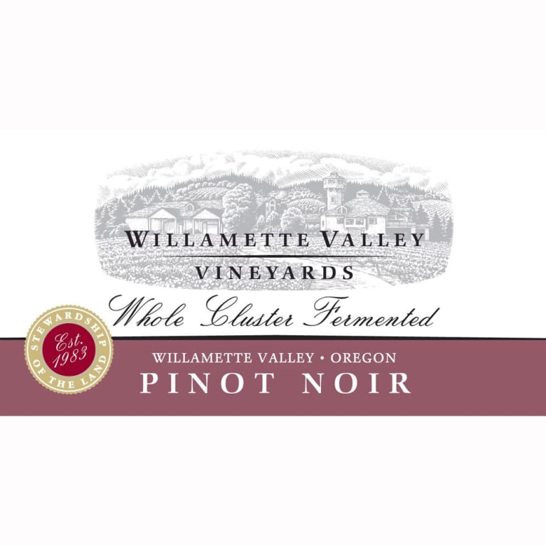 Willamette Valley Vineyards Whole Cluster Pinot Noir 2011 Front Label