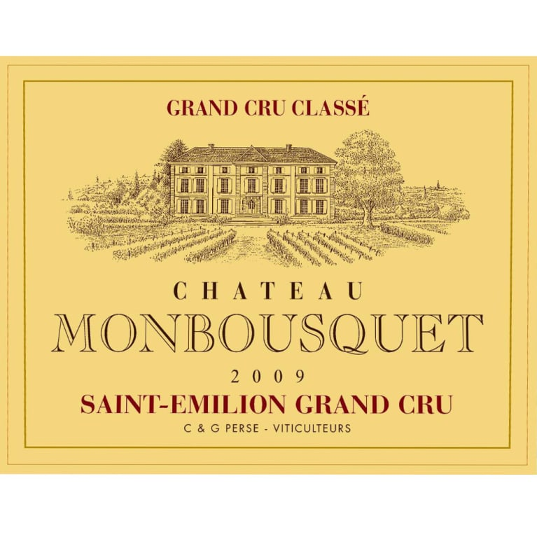 Chateau Monbousquet  2009 Front Label