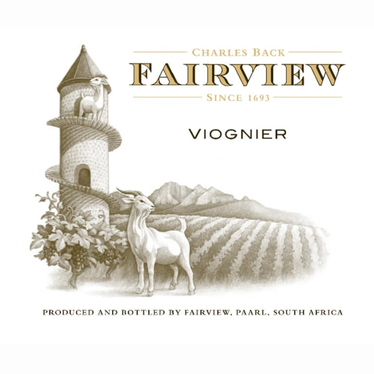 Fairview Viognier 2010 Front Label