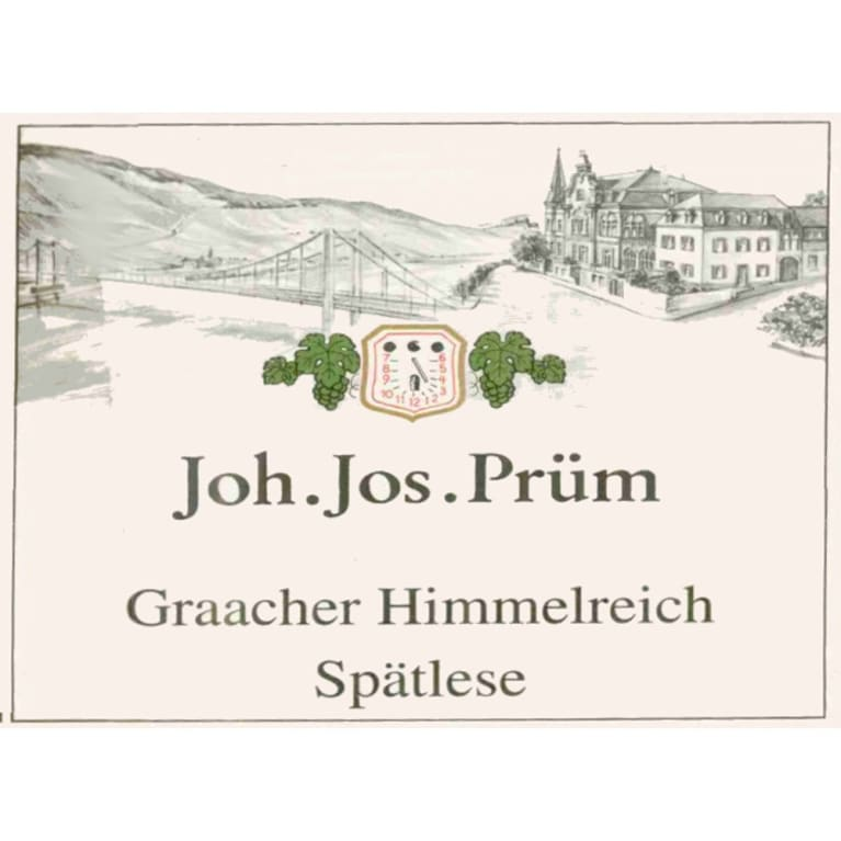 J.J. Prum Graacher Himmelreich Spatlese Riesling 2010 Front Label