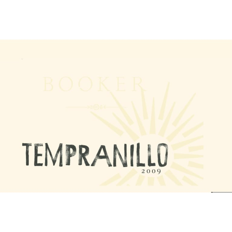 Booker Vineyard Tempranillo 2009 Front Label