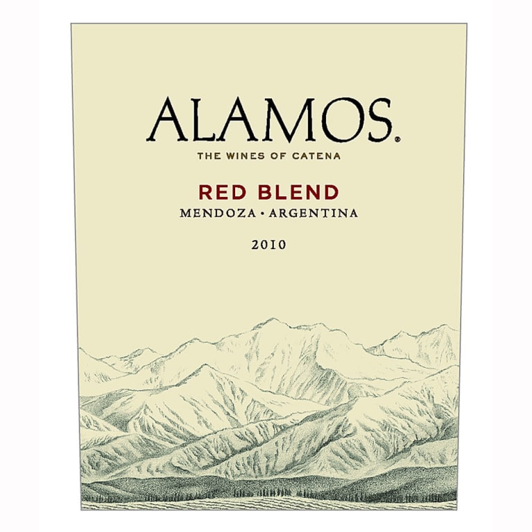 Alamos Red Blend 2010 Front Label