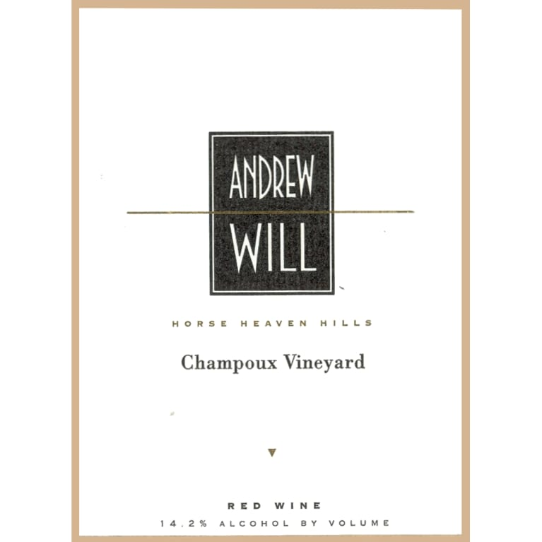 Andrew Will Winery Champoux Vineyard Horse Heaven Hills 2009 Front Label