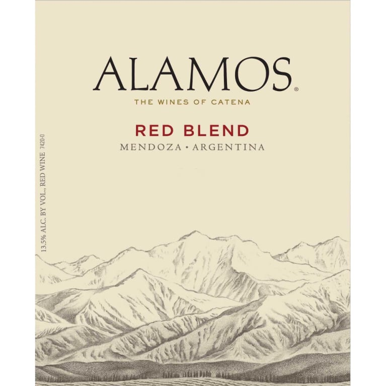 Alamos Red Blend 2011 Front Label
