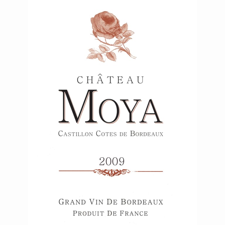 Chateau Moya  2009 Front Label