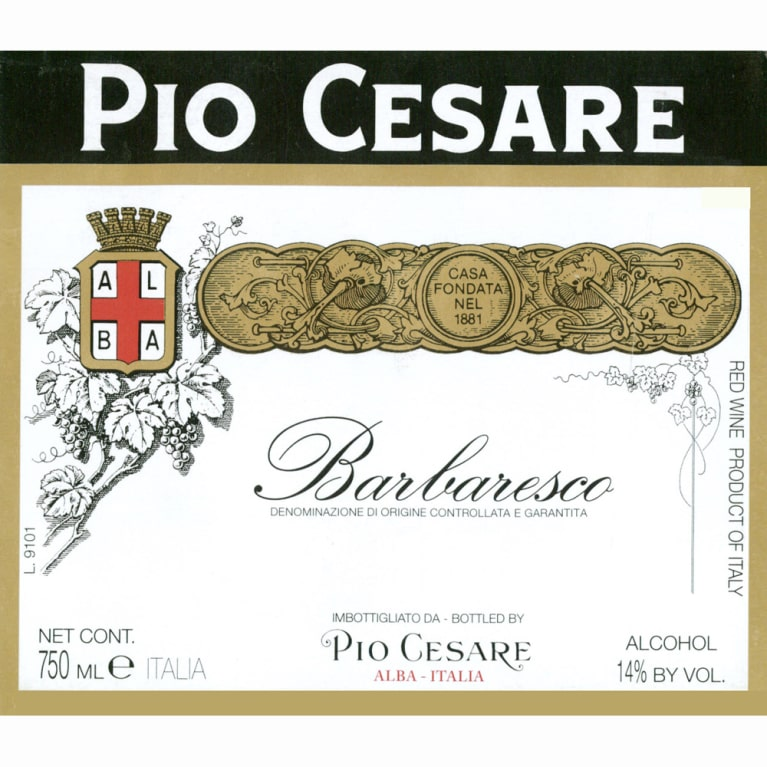 Pio Cesare Barbaresco 2008 Front Label