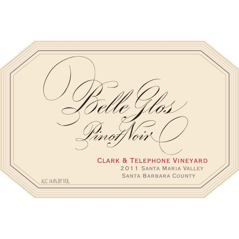 Belle Glos Clark and Telephone Vineyard Pinot Noir 2011 Front Label