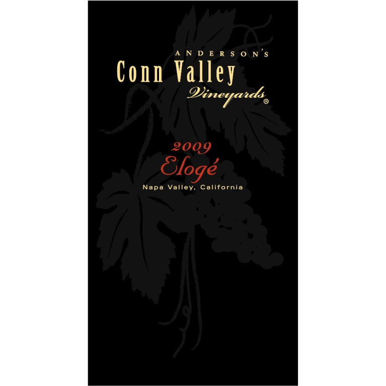 Anderson's Conn Valley Vineyards Eloge 2009 Front Label