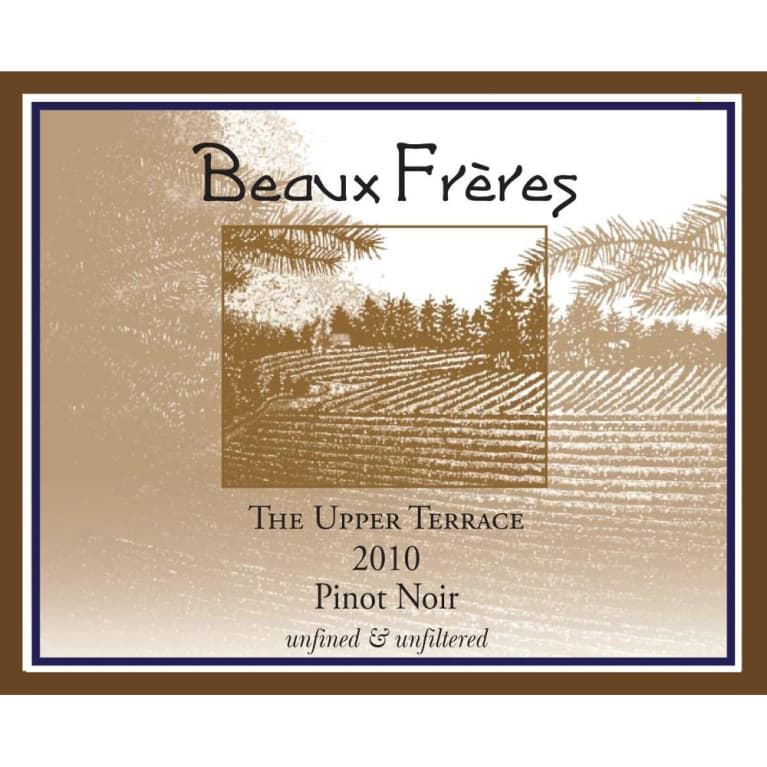 Beaux Freres The Upper Terrace Pinot Noir 2010 Front Label