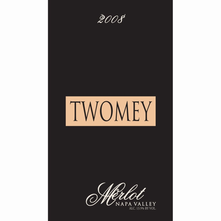 Twomey Cellars by Silver Oak Merlot 2008 Front Label
