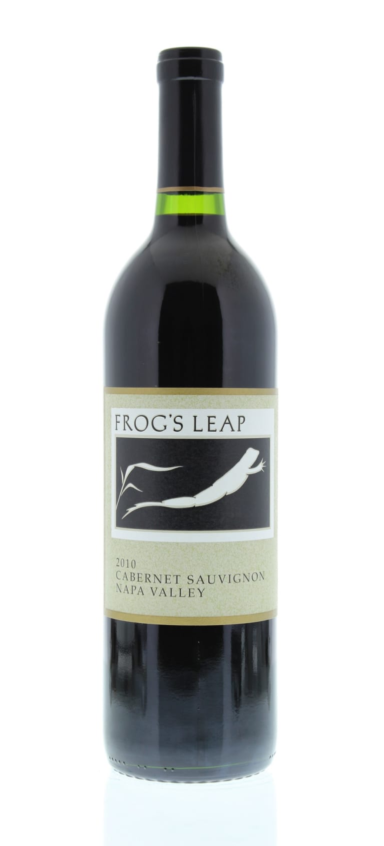 Frog's Leap Estate Grown Cabernet Sauvignon 2010 Front Bottle Shot