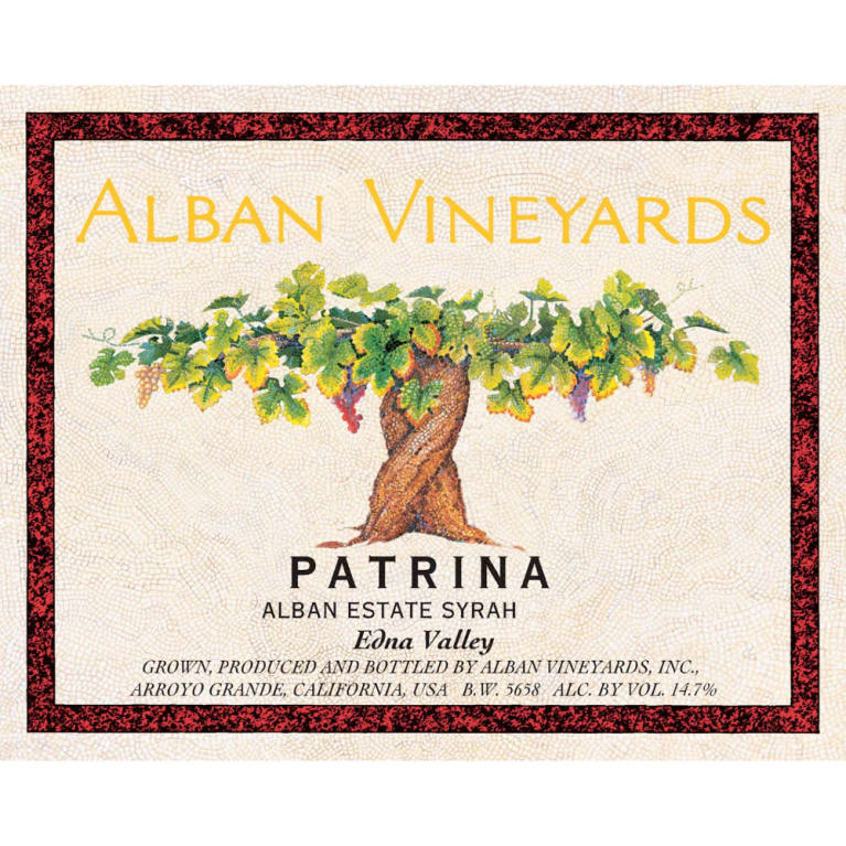Alban Patrina Alban Estate Syrah 2009 Front Label