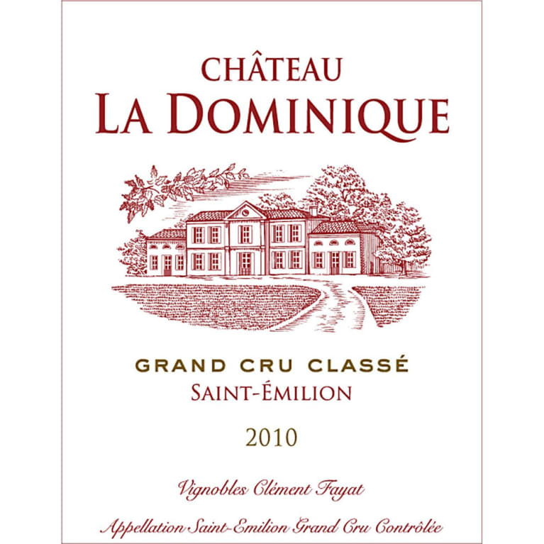 Chateau La Dominique  2010 Front Label