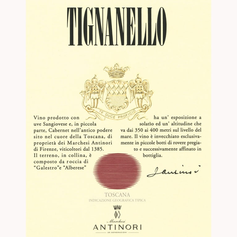 Antinori Tignanello (3 Liter Bottle) 2009 Front Label