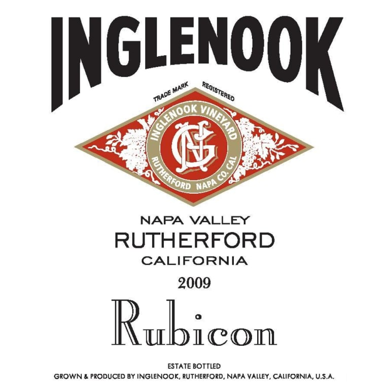 Inglenook Rubicon 2009 Front Label