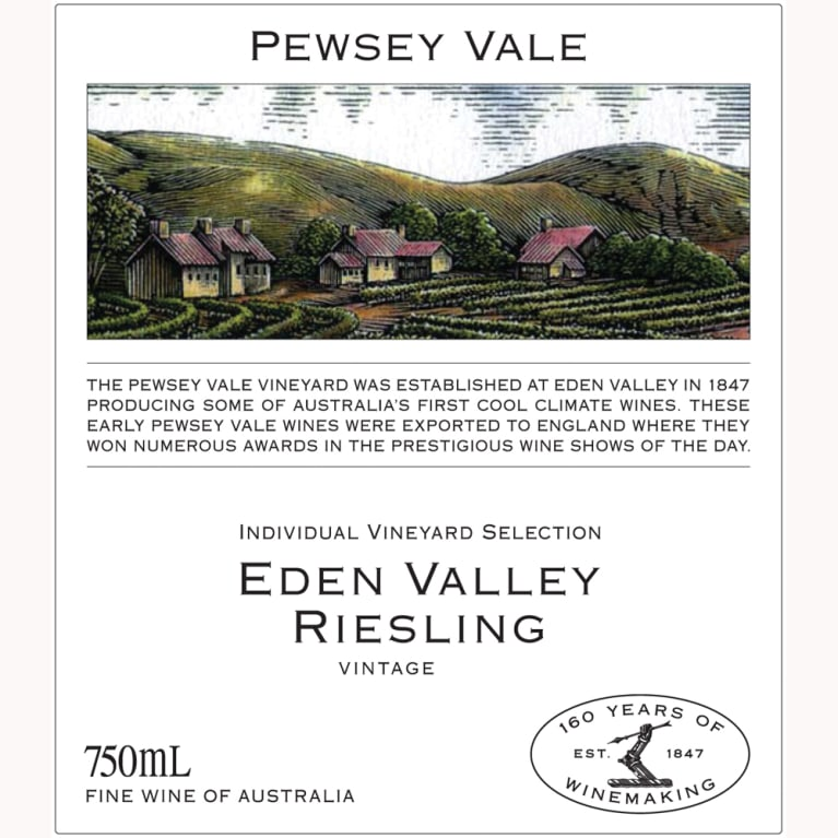 Pewsey Vale Eden Valley Riesling 2012 Front Label
