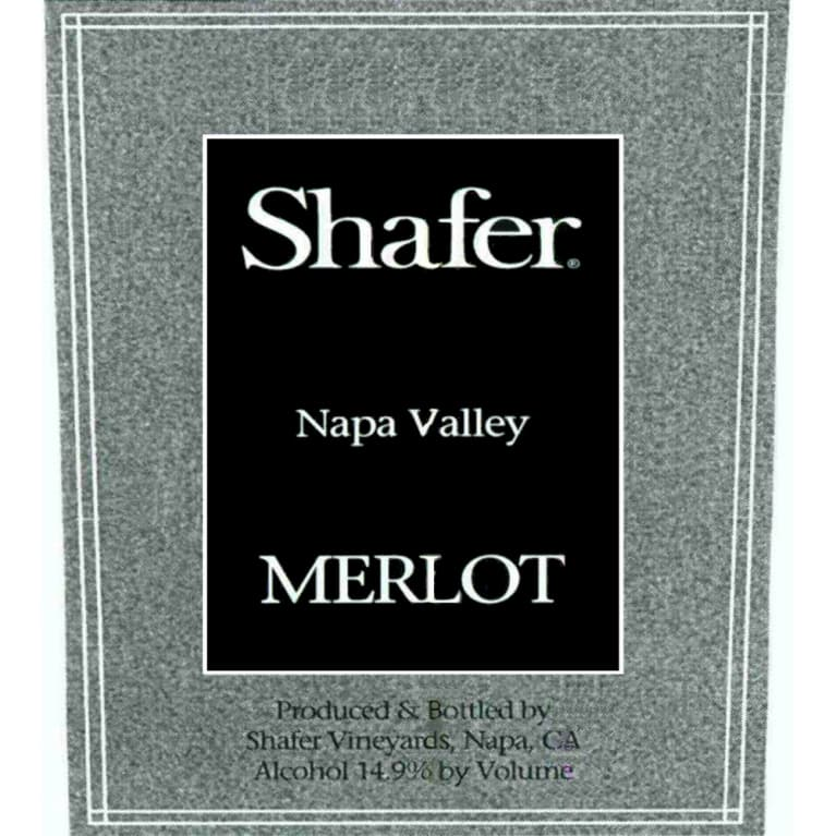 Shafer Napa Valley Merlot 2010 Front Label