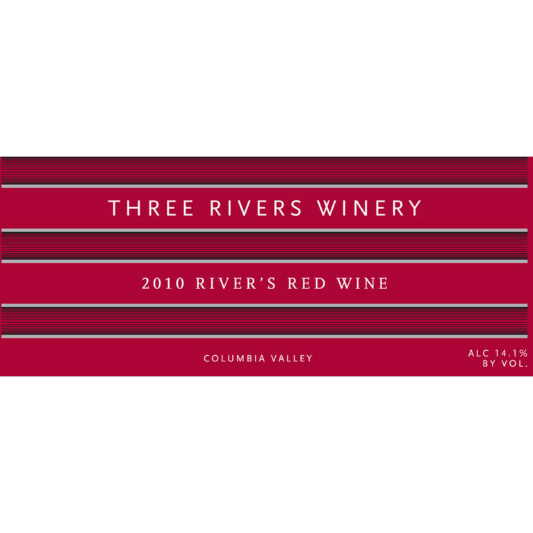 Three Rivers River's Red Blend 2010 Front Label