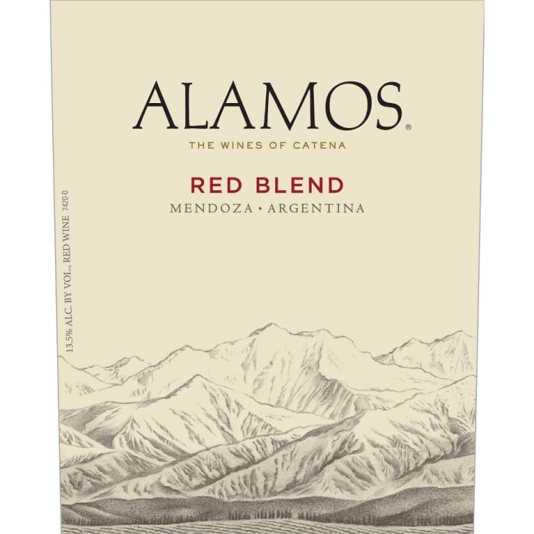Alamos Red Blend 2012 Front Label