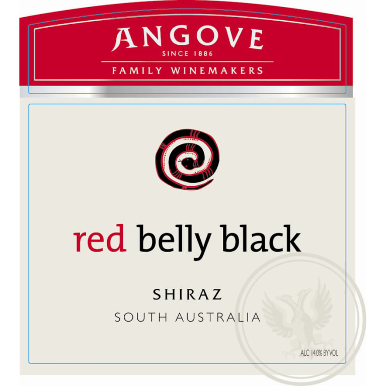 Angove Family Winemakers Red Belly Black Shiraz 2009 Front Label