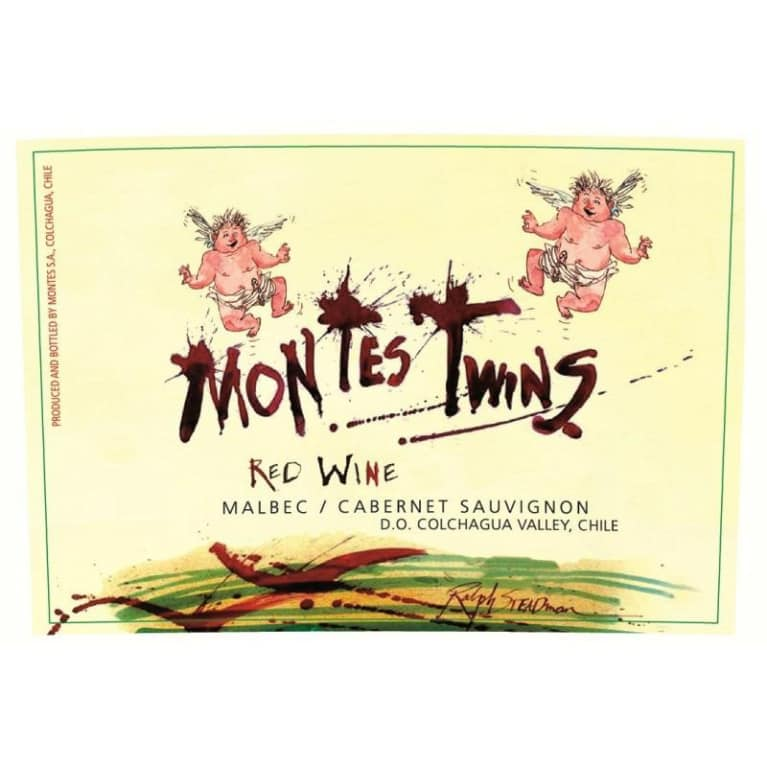 Montes Twins Red Blend 2010 Front Label
