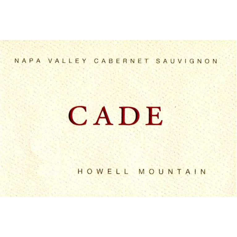 CADE Howell Mountain Cabernet Sauvignon 2010 Front Label