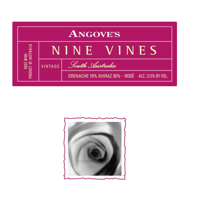 Angove Family Winemakers Nine Vines Rose 2011 Front Label