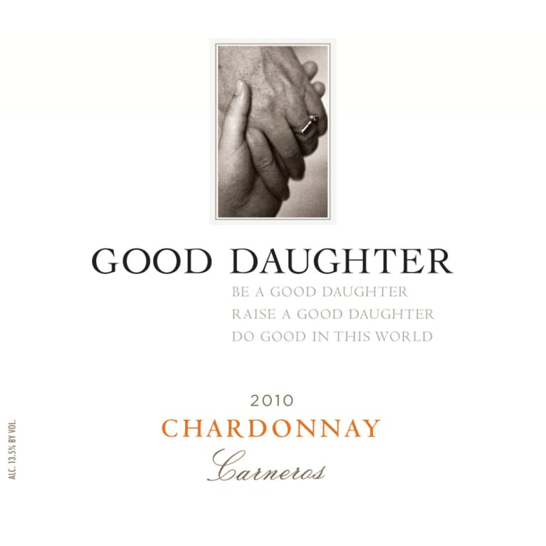Good Daughter Chardonnay 2010 Front Label