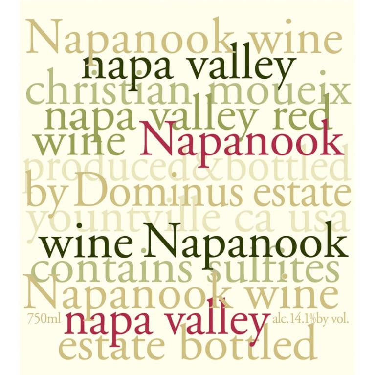 Dominus Napanook Vineyard 2010 Front Label