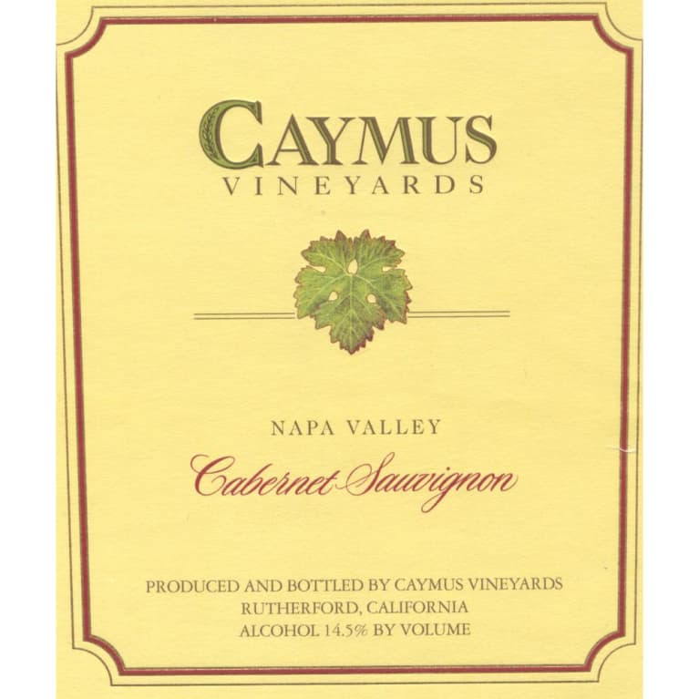 Caymus Napa Valley Cabernet Sauvignon 1990 Front Label