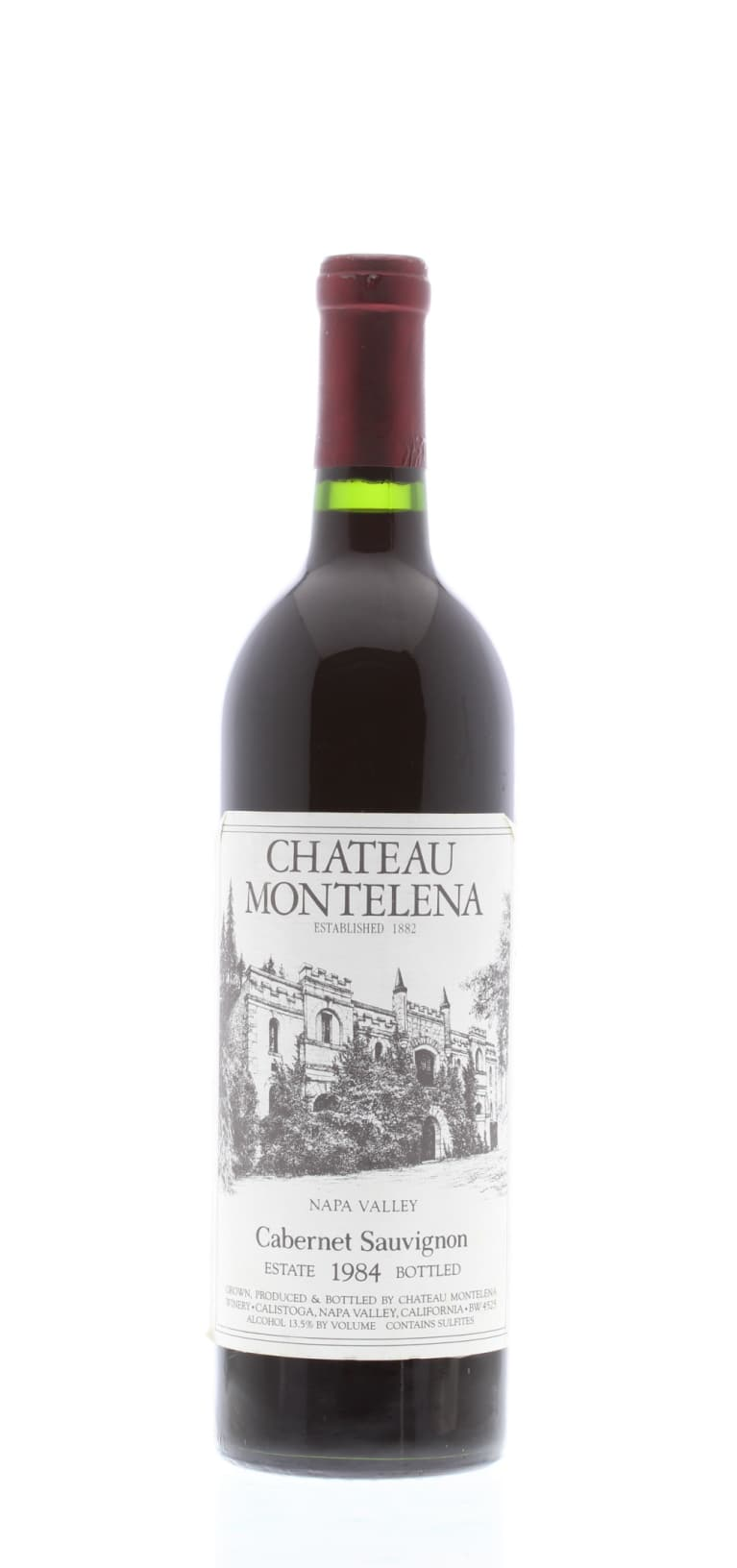 Chateau Montelena Estate Cabernet Sauvignon 1984 Front Bottle Shot