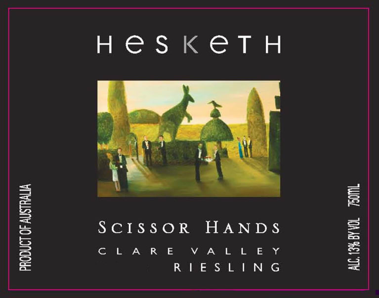 Hesketh Scissor Hands Riesling 2013 Front Label