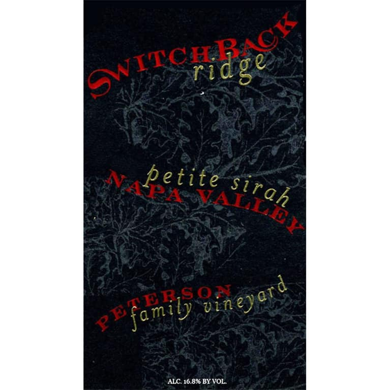 Switchback Ridge Peterson Family Vineyard Petite Sirah 2007 Front Label