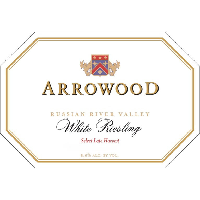 Arrowood White Riesling Special Late Harvest (half-bottle) 1994 Front Label